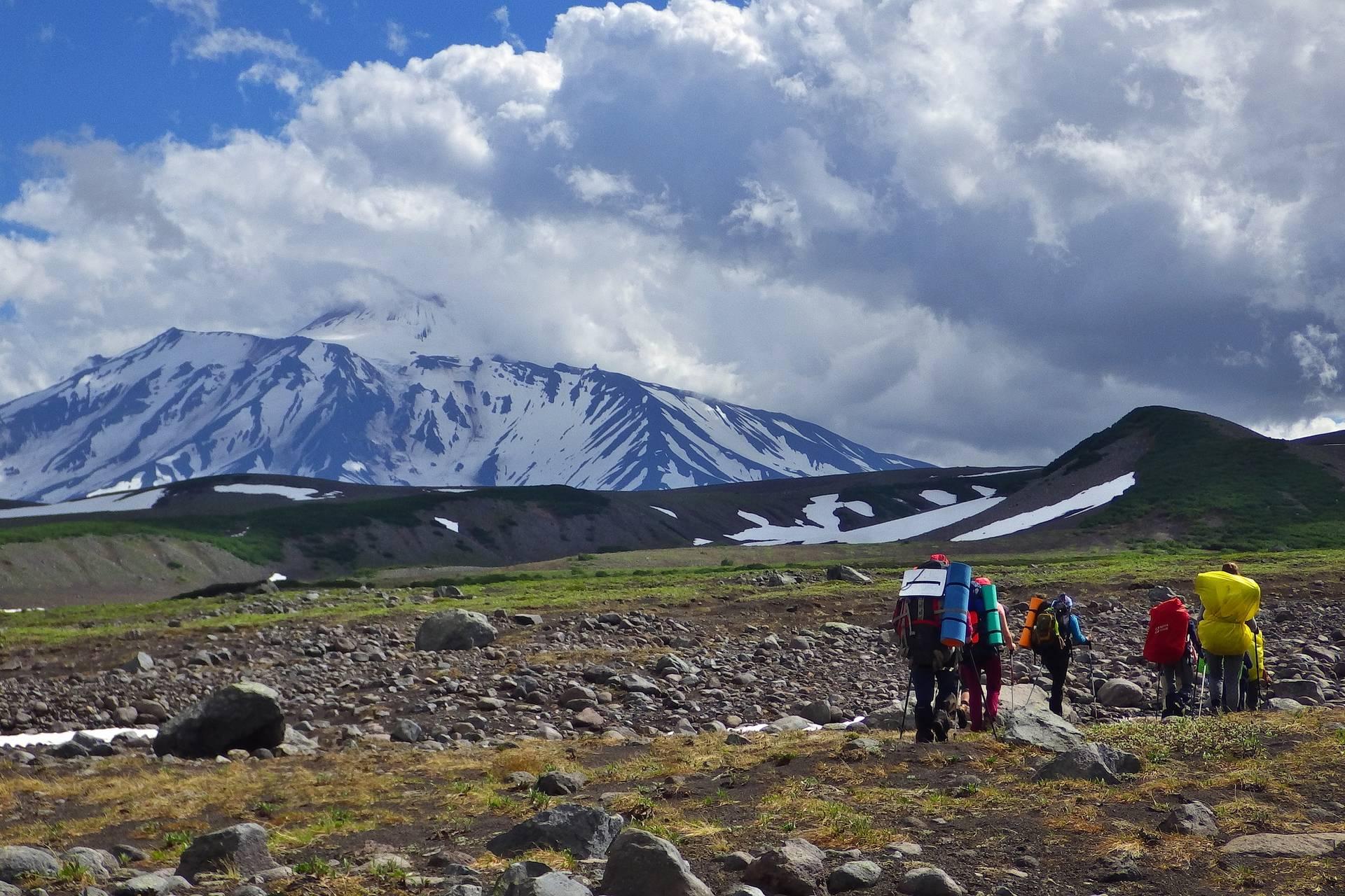 Камчатка: поход среди вулканов